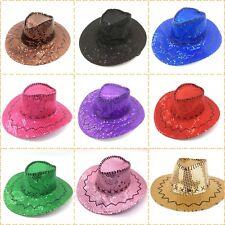 Sequin Cowboy Hat Kid's Adults 10 Colours