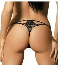 c string perizoma slip donna sexy per donna tanga trasparente in pizzo nero