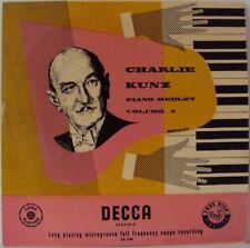 "Charlie Kunz Piano medley volume 4 10"" LP DECCA l3958"