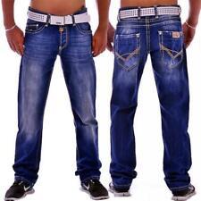 Cipo & Baxx C 688 Herren Jeans Hose Cargo Denim blau blue Used Look dicke Nähte