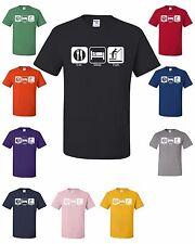 Eat Sleep Fish T-shirt Funny Man Gift For Dad Husband Marriage Tee Shirt Camping