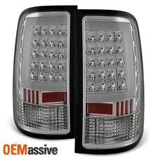 2007-2013 GMC Sierra 1500 07-14 2500HD 3500HD Clear LED Tail Lights Brake Lamps