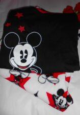 Disney Mickey Mouse Ladies Fleece Pajama Set Black & White Medium (M) NWT