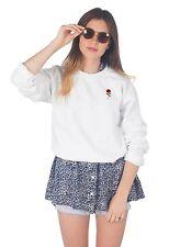 Rose Pocket Sweater Top Jumper Sweatshirt Fashion Summer Tumblr Cute Flower