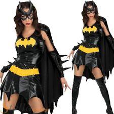 Ladies Batgirl Costume Batman Superhero Halloween Fancy Dress Womens Outfit