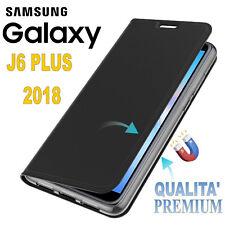COVER per SAMSUNG GALAXY J6 PLUS 2018 CUSTODIA FLIP PELLE PROTEZIONE PREMIUM