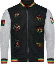 Men's Rasta Baseball Winter jacket Fleece Material Rastafarian Patches