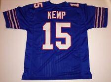 UNSIGNED CUSTOM Sewn Stitched Jack Kemp Blue Jersey - M, L, XL, 2XL