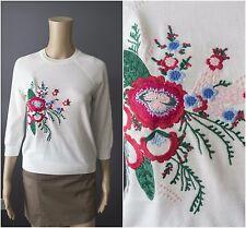 M&S Jumper - Marks & Spencer Cotton Blend Embroidered Round Neck Jumper