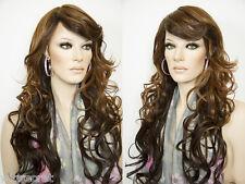 Long Feminine Skin Top Heat Friendly Wavy Curly Blonde Brunette Red Wigs