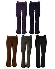 Lady Terciopelo Velvet Jogging Pantalones Pantalones de Yoga Gym Relax Negro Azul Color Morado
