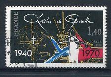 FRANCE 1980 timbre 2114, C. DE GAULLE, APPEL 18 JUIN, oblitéré