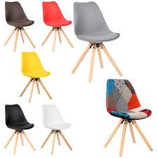 1X Chaise de salle à manger en cuir simili/ lin assise convient pour cusine f252
