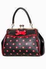 Banned Women's Bags Retrò Vintage 50s Pinup piccola PAZZA cosa a Pois Borsa