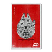 Millennium Falcon Star Wars The Last Jedi Movie Silk Poster Canvas Print