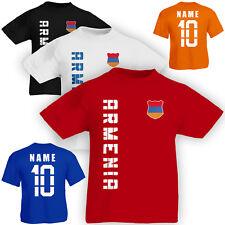 Kinder T-Shirt Trikot Armenien Armenia inkl. Name & Nummer Mini WM 2018