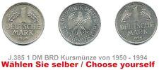J.385 - 1 DM BRD Kursmünze 1950-1994 A D F G J - Bitte auswählen / please select