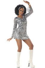 Brand New Sexy Women 70's Retro Groovy Disco Diva Halloween Costume