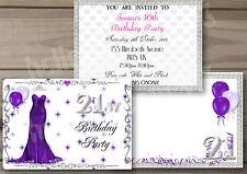 1-10 QUALITY 16th 18th 21st 30th 40th 50th 60th BIRTHDAY INVITATIONS **BLING**