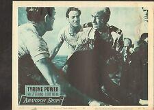 1957 MOVIE LOBBY CARD #3-1368 - ABANDON SHIP! - TYRONE POWER