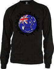 Australia Flag Soccer Ball Australian Football Team Colors AUS AU Men's Thermal