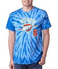 "TIE DYE Russell Westbrook Oklahoma City Thunder ""MVP"" T-shirt jersey"
