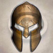 Bronze Spartan Helmet Sticker Roman Empire Warrior Decal