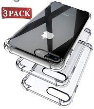 3X Hybrid Shockproof Thin Clear TPU Bumper Case Fits iPhone X 6 7 8 Plus XS MAX