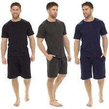 Hombre Pijama 100% Cotton Manga Corta Camiseta y Short PANTALONES - XXL
