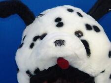 ONE-SIZE-FITS-ALL DALMATIAN PUPPY DOG COSTUME HAT PLUSH STUFFED ANIMAL TOY