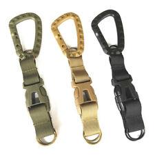 Outdoor Military Hiking Nylon Webbing Army Buckle Hanging Belt Carabiner Clip Ji