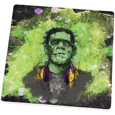 Halloween Frankenstein Raver Monster Set of 4 Square Sandstone Coasters