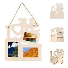 Love Hollow Wooden Family Photo Picture Frame Rahmen White Base DIY Home Decor