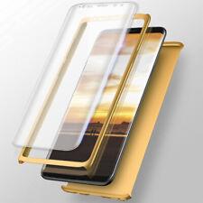 360 Schutzhülle Samsung Galaxy S9 Full Cover Case Hülle + Panzerfolie - Gold