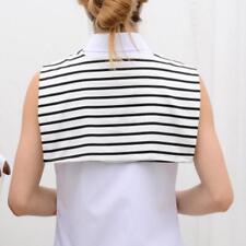 False Collar Shawl Hat Scarf Women/Men Fake t-shirt Navy Style Decoration