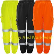Visibilidad Combate Pantalones Joggers Trabajo Pantalón De Chándal GRUESO POLAR