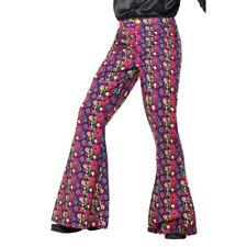 anni '60 PSICHEDELICO CND pantaloni svasati da uomo Hippy Accessorio Vestito