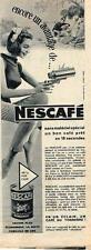 PUBLICITE ADVERTISING   1956   NESCAFE  café soluble