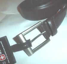 Swiss Army Logo Genuine Leather Belt Brown SG27C