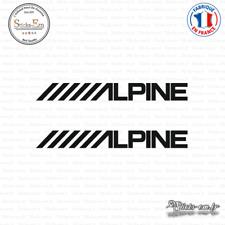 2 Stickers Alpine Decal Aufkleber Pegatinas ALPI01 Couleurs au choix
