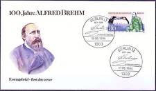 Berlin 1984: Zoologe Alfred Brehm! FDC Nr. 722 mit Ersttags-Sonderstempeln! 156