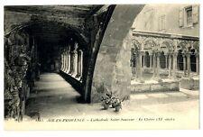 CPA 13 Bouche du Rhône Aix-en-Provence Cathédrale Saint-Sauveur Le Cloître