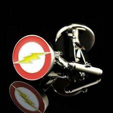 Men Silver Coloured Metal Flash Motif Cuff Links Cufflinks  Gift Bag or Box