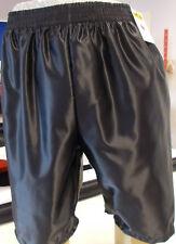 Nylon Glanz Satin Leisure Shorts with Pockets Small - XXL 70s & 80s, Black