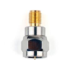 Adapter Adaptador F TV Plug Enchufe Macho To SMA Hembra Jack RF Connector