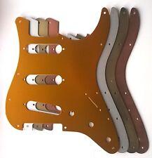 Stratocaster SSS Anodised Aluminium Pickguard 11 hole US Strat: various colours