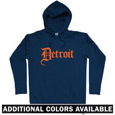 Detroit Gothic Hoodie - MI Michigan 313 Pistons Tigers Lions Wings - Men S-3XL