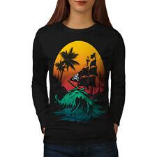 Pirate Ship Storm Women Long Sleeve T-shirt NEW | Wellcoda