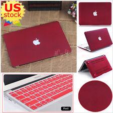 "Wine Red Quicksand Matt Hard Case+Keypad Cover for MacBook Air Pro 11""/13""-inch"
