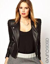Women Leather Jacket Soft Solid Lambskin New Handmade Motorcycle Biker S M # 14